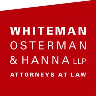 White OStermann Hanna logo red